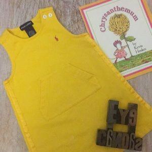RALPH LAUREN Pouch Front Yellow Jumper